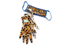 Velvet Fashion Face Mask with Gloves Turquoise the Cheetah