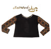 "FashWand Bamboo Open Back Long Sleeve Arte Top ""Gold Tiger"""