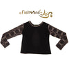 "FashWand Bamboo Open Back Long Sleeve Arte Top ""Gray Tiger"""