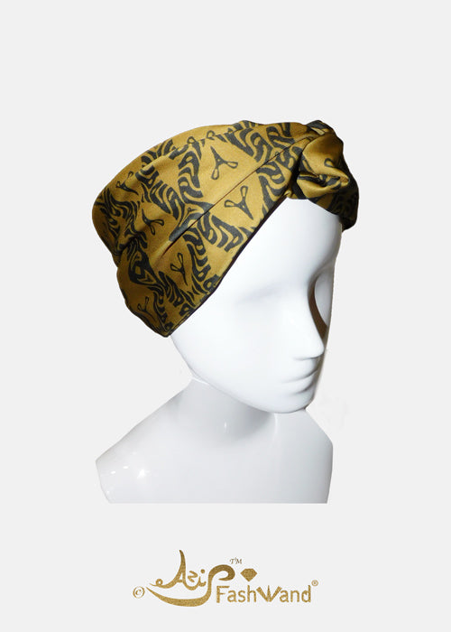 FashWand Gold Tiger Twisted Headband