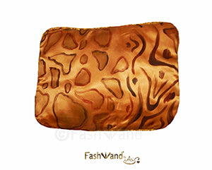 "FashWand Patterns of Wildlife "" Golden Leopard"" Silk Charmeuse Decorative Pillow"