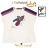 "FashWand Jeweled Embroidery Bamboo & Italian Tulle Top ""Mandarin Garnet The Monarch Butterfly"""