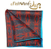 "FashWand Men's Arte Pocket Square in Silk Twill ""Red Giraffe"""
