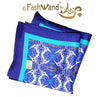 "FashWand Men's Arte Pocket Square in Silk Twill ""White Crest"""