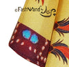 "FashWand Men's Arte Pocket Square in Silk Twill ""Ruby The Six Plumed Bird of Paradise"" Jewels"