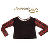 "FashWand Bamboo Open Back Long Sleeve Arte Top ""Red Giraffe"""