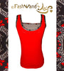 "FashWand Bamboo Mesh Tank Top ""Red Tiger"""