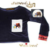 "FashWand Velour Arte Pocket Top ""Alexandrite The Rhino"""