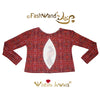 "FashWand Open Back Long Sleeve Arte Top  ""Ruby The Six Plumed Bird of Paradise"""