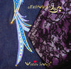 "FashWand Jeweled Embroidery Lacy Silk Denim Jacket ""Sapphire The Spix's Macaw"""