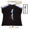 "FashWand Jeweled Embroidery Wool & Italian Tulle Top ""Sapphire The Spix's Macaw"""