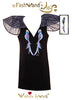 "FashWand Jeweled Embroidery Pleated Tulle & Lace Bird of Paradise Dress ""Sapphire The Spix's Macaw"""