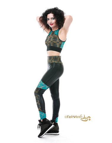 "FashWand Lacy Leggings & Top Set ""Gold Tiger"""