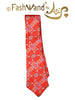 "FashWand Men's Silk Tie ""Blue Coral"""