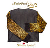 "FashWand Jeweled Embroidery Lace + Silk Denim Jacket ""Golden Topaz The Long Tailed Bird of Paradise"""