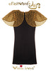 "FashWand Jeweled Embroidery Pleated Tulle & Lace Bird of Paradise Dress ""Golden Topaz The Long Tailed Bird of Paradise"""