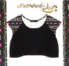 "FashWand Sheer Crop Arte Top ""White Giraffe"""