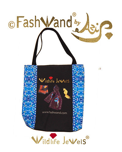 FashWand Wildlife Jewels Luxe Tote Bag in Lazuli Jewels