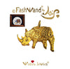 "FashWand 18K Solid Yellow Gold Pendant Wildlife Jewels ""Alexandrite The Rhino"""