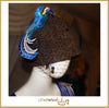 "FashWand Jeweled Lace Appliqué Hat in Wool & Velvet ""Black Opal The Bird of Paradise"""