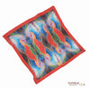 "Wrist Scarf Square in Printed Silk ""Tropical Moonlight"" Painting"