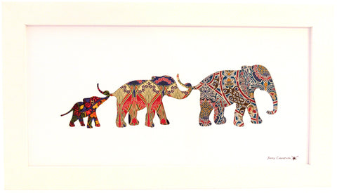 LIBERTY OF LONDON FABRIC 3 ELEPHANT FAMILY #2