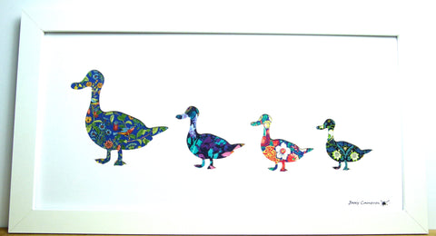 LIBERTY OF LONDON FABRIC DUCK FAMILY PICTURE