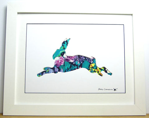 LIBERTY OF LONDON FABRIC HARE PICTURE