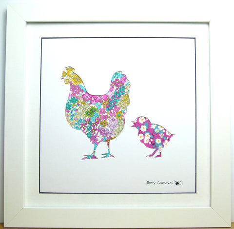 LIBERTY OF LONDON FABRIC CHICKEN PARENT & CHILD