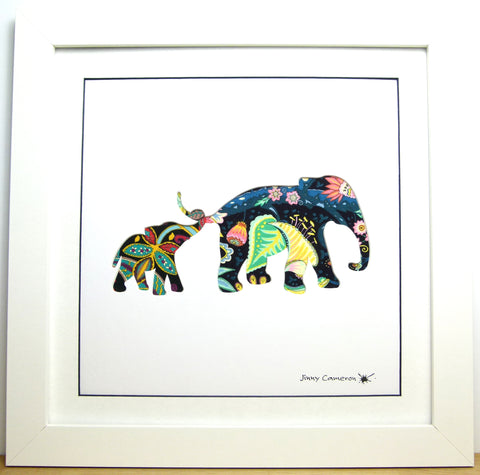 LIBERTY OF LONDON FABRIC ELEPHANT PARENT & CHILD