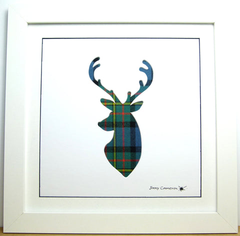 MACLAREN ANCIENT TARTAN FABRIC STAG PICTURE 3850