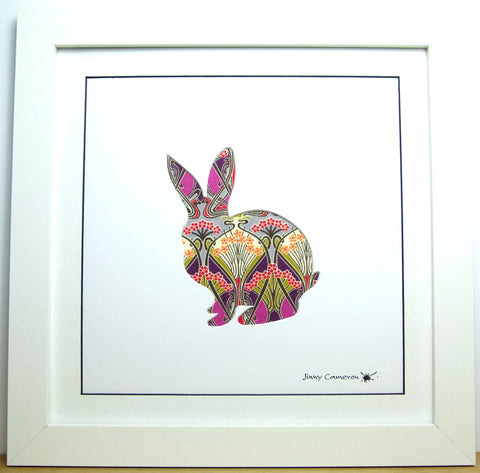 LIBERTY OF LONDON FABRIC RABBIT PICTURE 3851