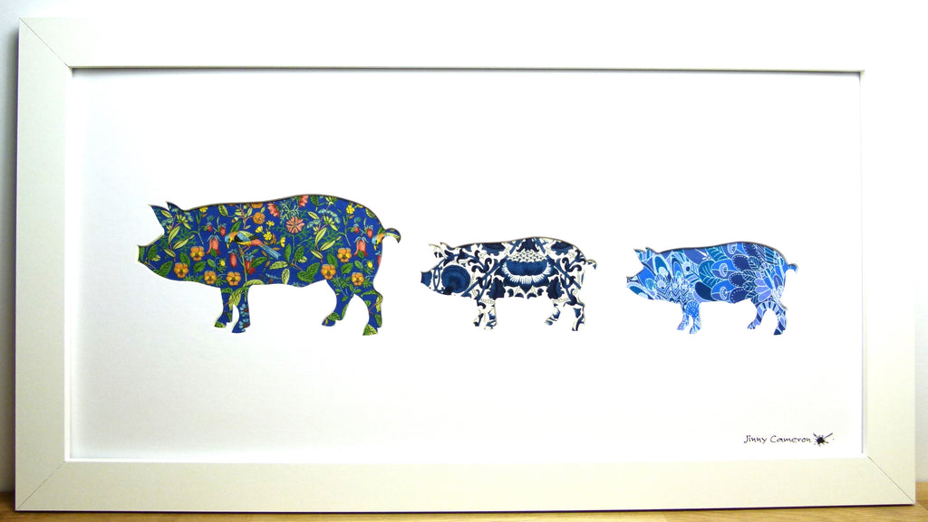LIBERTY OF LONDON FABRIC 3 PIG FAMILY