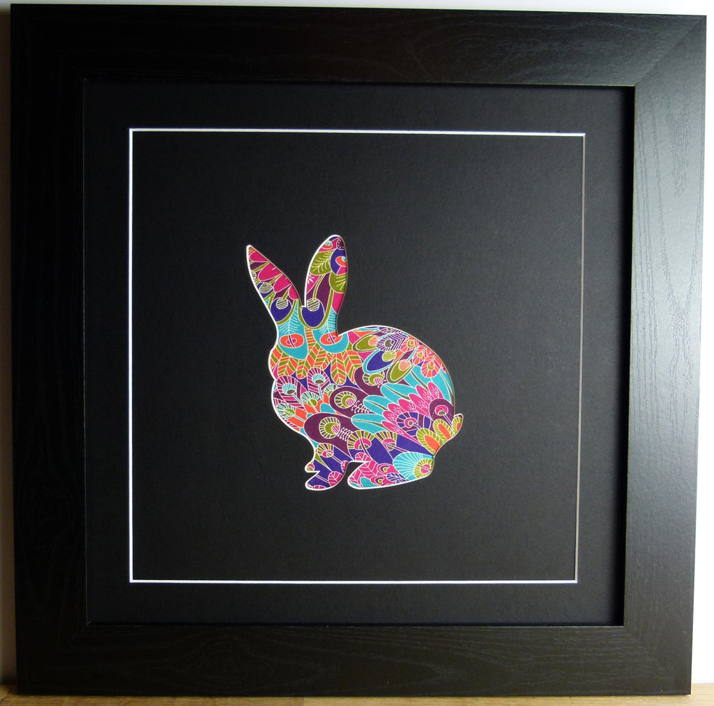 LIBERTY OF LONDON FABRIC RABBIT BLACK