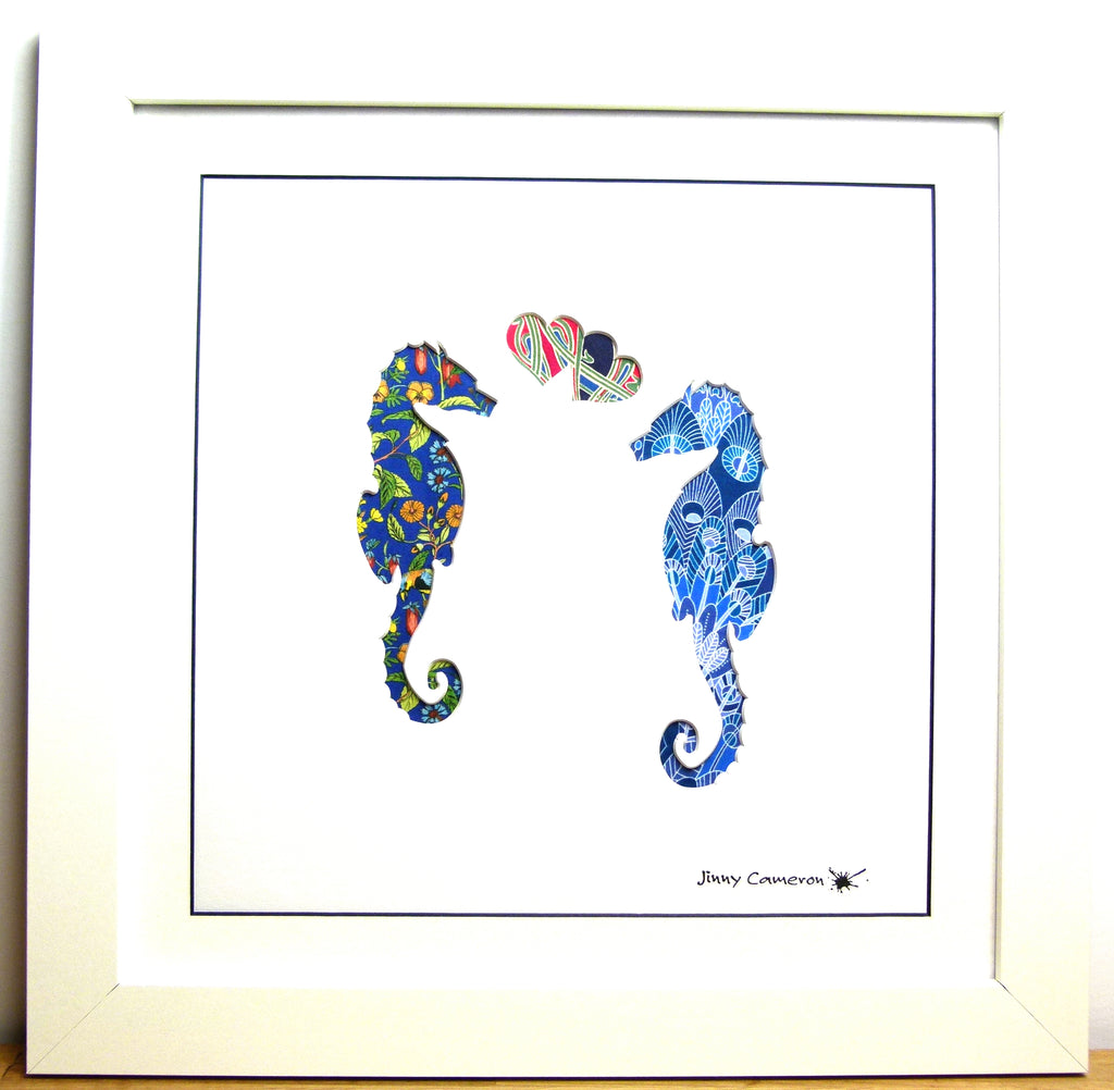 LIBERTY OF LONDON FABRIC SEAHORSES