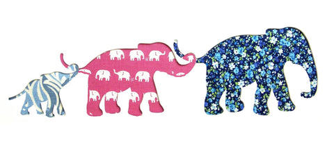 Three Elephant Family Rectangular Card