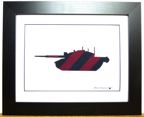 CHALLENGER 2 TANK IN GUARDS BRIGADE TIE FABRIC