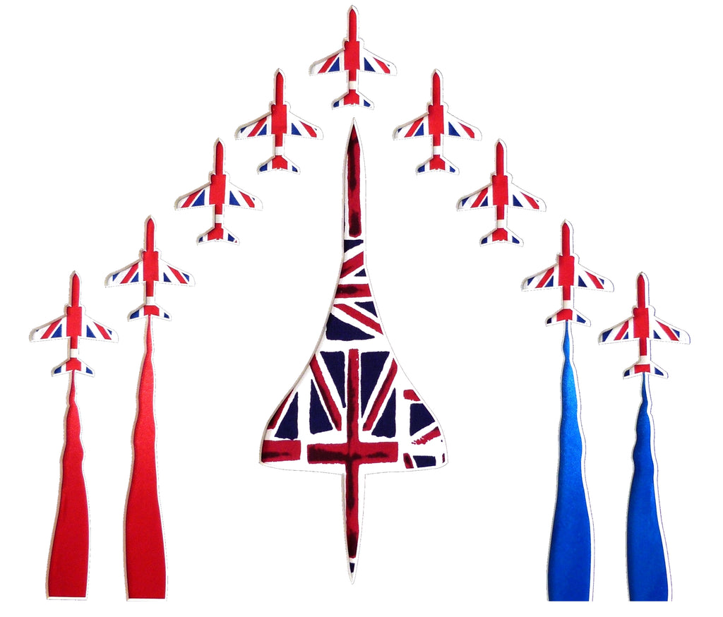 Concorde and Red Arrows Card Square