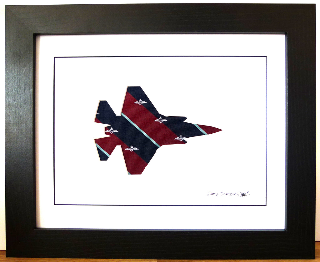 F35 RAF pilot tie silhouette picture wall art unique art