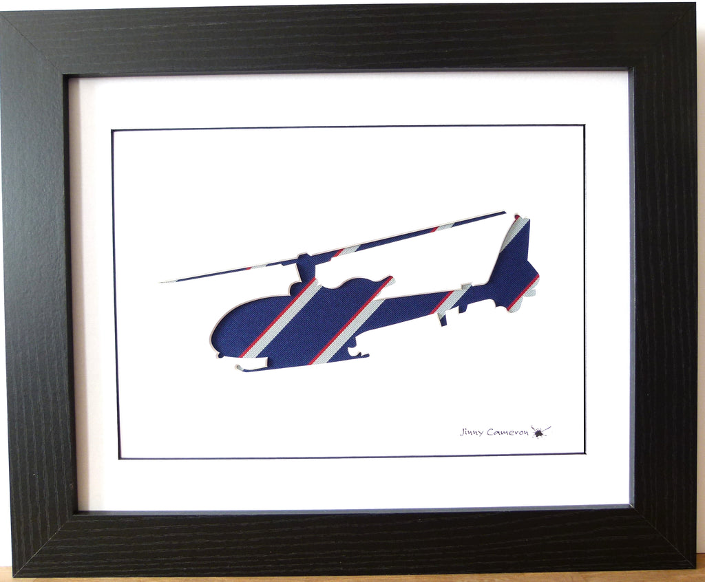Gazelle in army air corps tie fabric military wall art