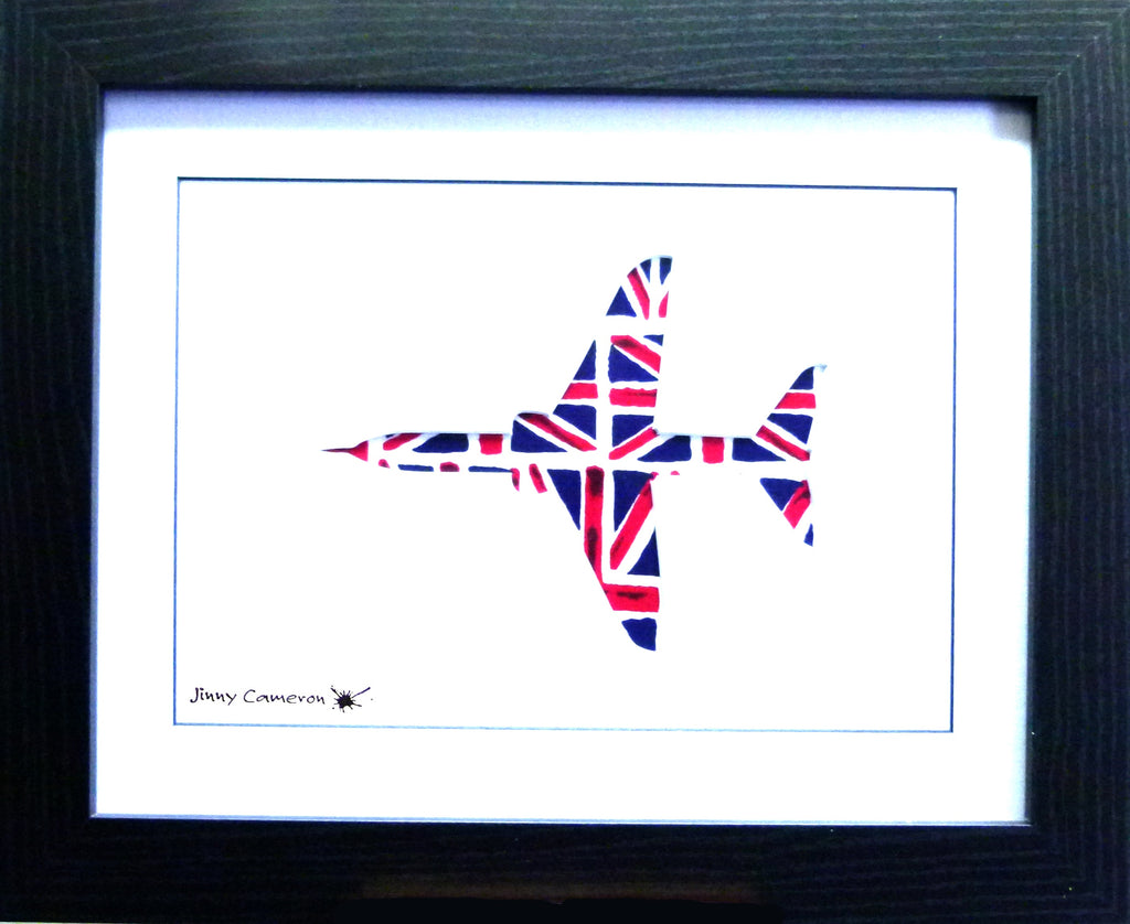 HAWK IN UNION JACK FABRIC