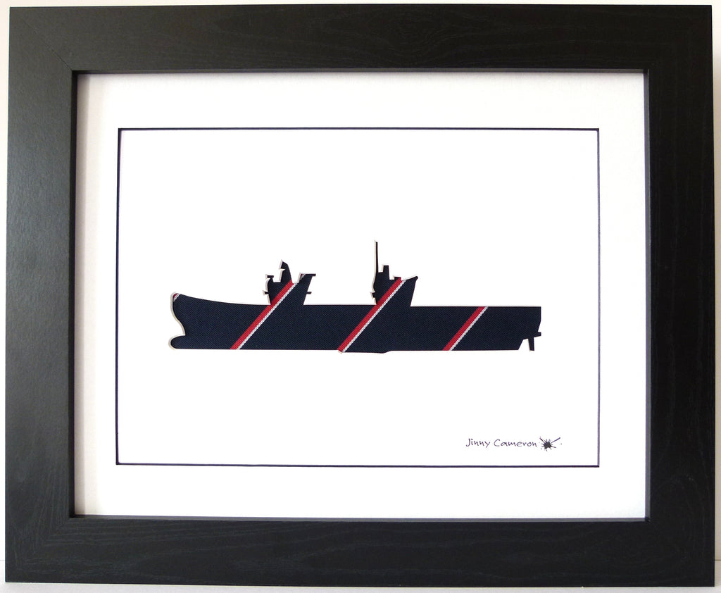 HMS Queen Elizabeth Royal Navy Tie QE2 Aircraft Carrier F35 Wall art Picture