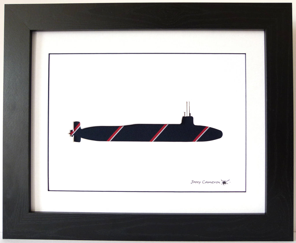 HMS Vanguard Submarine Royal Navy Tie wall art picture