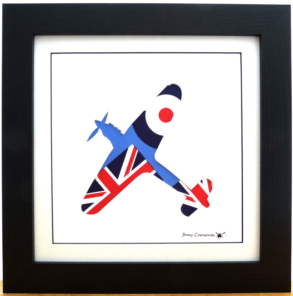 Hurricane, RAF Ensign, Union Jack, wall art, bespoke art, jinny cameron, aviation art, military art