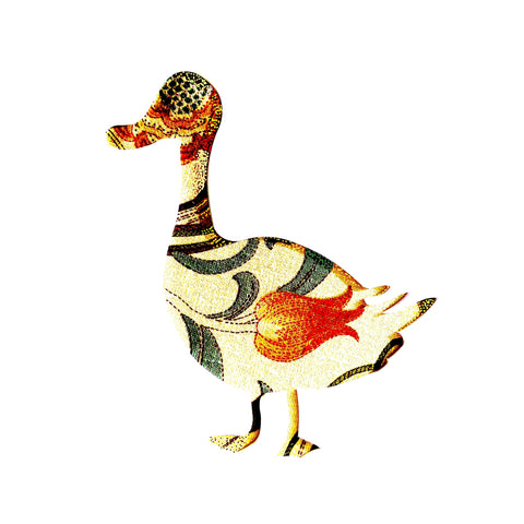 William Morris Fabric Duck Card