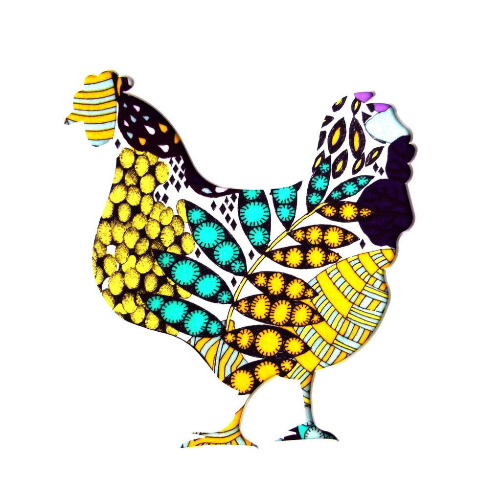 Liberty of London Fabric Chicken Card