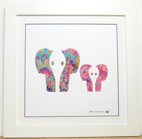LIBERTY OF LONDON FABRIC ELEPHANT PARENT & CHILD FACE ON