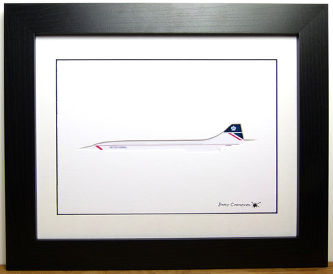 CONCORDE IN BRITISH AIRWAYS 1985 TO 1997 LIVERY PICTURE 3950