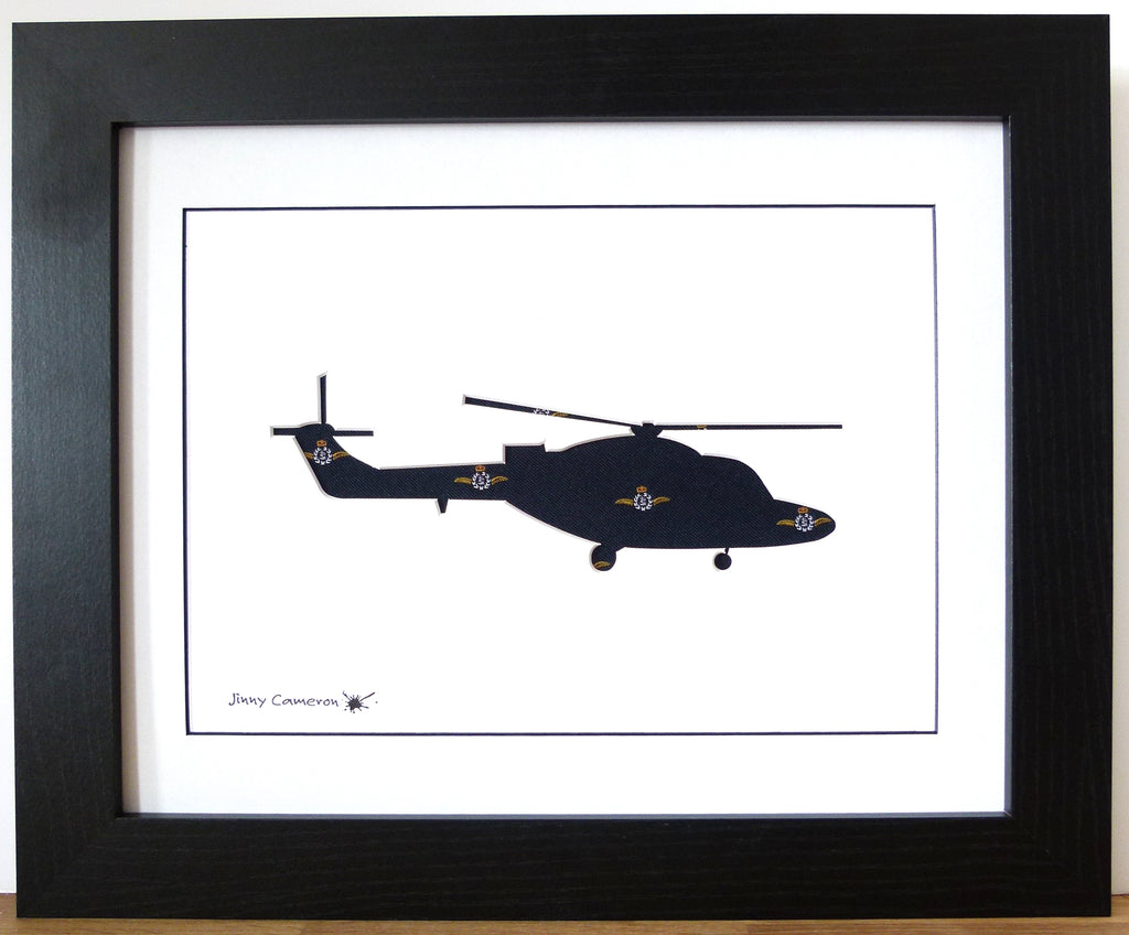 Lynx fleet air arm tie silhouette picture wall art