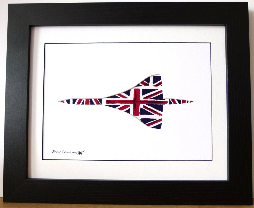 Concorde silhouette planform Union Flag Union Jack picture wall art